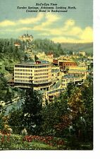 Aerial City-Town View-Eureka Springs-Arkansas-Vintage Linen Postcard