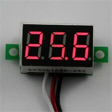 DC 0-30V 3 Wire Red LED Display Digital Voltage Voltmeter Panel Motor Motorcycle