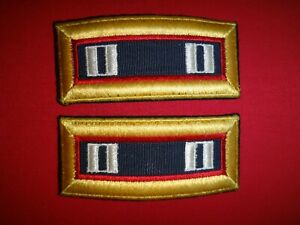 Pair Of US Military CAPTAIN Rank Shoulder Badges Epaulets For Dress Jackets