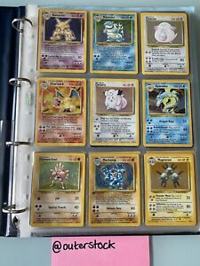 Pokemon Cards Complete 100% Base Set 102/102 Ultra Pro VINTAGE RARE