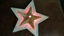 """9"""" Star Symbol Rustic Metal Holiday Christmas Vintage Marquee Sign Light 1940s"""