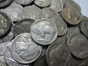 4 DIGIT FULL DATED BUFFALO NICKEL ROLLS 40 COINS/ROLL UNSEARCHED GOOD + 20-30's