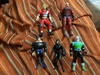 "LOT of 5 Marvel & DC Action Figures 4""-5"" Superman Catwoman Mr Freeze Magneto"