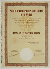 Sté de Participations Industrielles de la Bellière (Mine d'Or) Maine et loire
