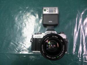 MINOLTA  X-370 35mm SLR FILM CAMERA W/ TOU/FIVE STAR MC AUTO ZOOM 35-75mm