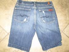 Girl's 7 FOR ALL MANKIND Size 10 Knee/Mid Length Denim Shorts....GREAT DEAL