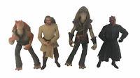 "4 Star Wars Action Figures Lot 1998 1999 Phantom Menace 3/4"""