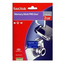 Genuine Sandisk 2GB 2G Memory Stick Pro Duo MSPD Video PSP Magicgate Retail