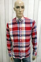 TOMMY HILFIGER Uomo Camicia Taglia M Cotone Shirt Chemise Casual Manica Lunga
