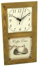 "Wall Clock,Kitchen Clock "" Coffee Time """