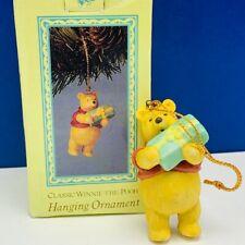 Winnie The Pooh Christmas ornament figurine vtg willitts classic porcelain box