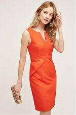 NWT Anthropologie Size 12 Red Classy Cross Front Sheath Dress by Maeve, $178