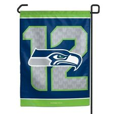 "Seattle Seahawks 12TH MAN Polyester 11""x15"" Garden Yard Wall Flag NFL"