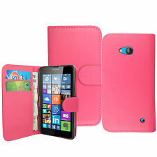 Magnetic Leather Wallet Flip Case Cover For Microsoft Nokia Lumia Phones +Stylus