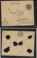 Netherland  Indies   revalued postal envelope to Germany  1912     KL0606