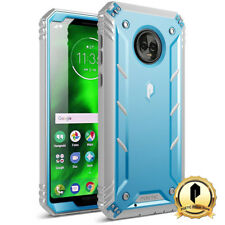 Poetic For Moto G6 Rugged Case [Revolution] Shockproof TPU Cover Blue