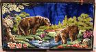 "Vintage Wall Hanging Tapestry Brown Bear Rug 38"" x 19"""