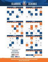 NHL New York Islanders 2019 Hockey Schedule Poster 12x18 or 24x36 or 27x40