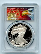 2002 W $1 Proof American Silver Eagle 1oz PCGS PR69DCAM Thomas Cleveland Eagle