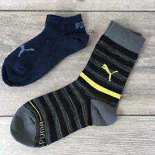 2 x Puma Trainer & Crew Kids Socks 2 Pairs UK C12 - 1.5 EU 31-34 A571-33