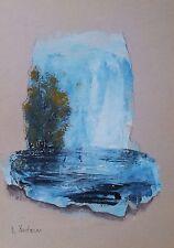paesaggio su carton 30x20 dipinto a mano Original acrilic  painting