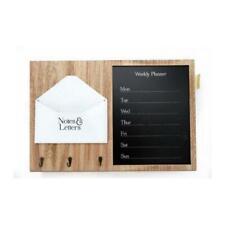 Days Of The Week Chalkboard Planner Wooden Wall Mounted Memo Board Notes Hooks