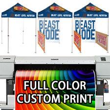 5 x 5 Pop Up Canopy Full Color Custom Print Trade Show Booth Vendor Tent