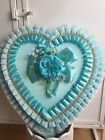 Vintage Valentine Heart Blue Candy Chocolate Box