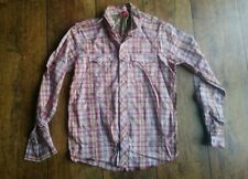 LEVIS Mens Designer RED TAB checked shirt - Red white gold - Size Large
