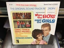 When The Boys Meet the Girls original sound track LP MGM SE-4334 stereo SEALED