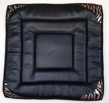 Western Mini Pony kids SHOW Saddle Pad 24x24 Fleece Back & Pink Zebra Trim