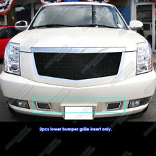 Fits 2007-2014 Cadillac Escalade Bumper Black Stainless Steel Mesh Grille
