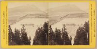 ALLEMAGNE Tyrol Brennerbahn Patscher Höhen Photo Stereo Vintage Albumine c1870