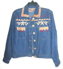 Don't Mess With Texas Western Embellished Embroider Denim Jacket w/Horse on Back
