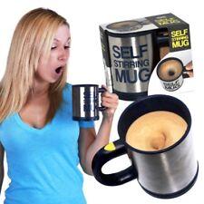 TAZZA TERMICA AUTOMESCOLANTE SELF STIRRING MUG MISCELA IDEA REGALO SCHIUMA CAFFE