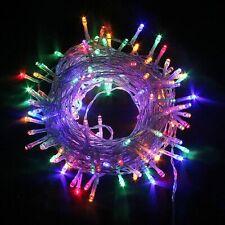 300 LED Lichterkette innen 8 Modi bunt Länge 18 m Weihnachten Beleuchtung