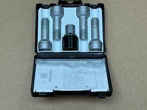 Mercedes-Benz Genuine High Security Type Silver Wheel Lock Set, Locks NEW