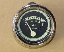 Öldruckmanometer Einbaumaß Ø60mm mit Beleuchtung für Traktor Druckanzeige 01