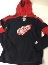 Detroit Red Wings CCM Old Time Hockey NHL Tie Jersey  Hoodie Youth Large L