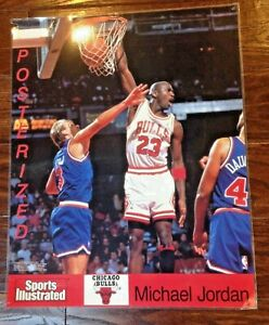 Original Sports Illustrated Chicago Bulls Michael Jordan dunk Craig Ehlo poster