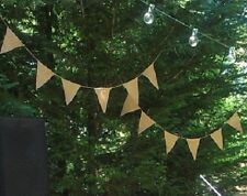 Triangle Jute Banner 12 Piece Pack - 8 x 10 Inch Parties - Weddings Decorations