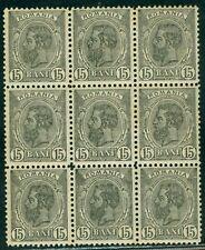 1900 SPIC de GRAU,Wheat Ear,Romania,121/x9,Wmk.Great Coat of Arms,MNH/MLH,V$1400