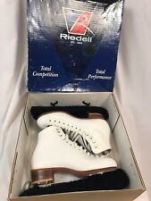 Riedell White Figure Skates 275 with Blade Model 1150, Women's Size 6