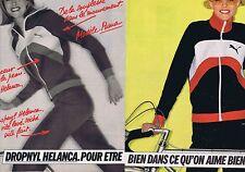 PUBLICITE ADVERTISING 025 1977 PUMA survêtement Dropnyl Helanca (2 pages)