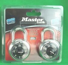 "Master Lock 1500T Combination-Alike Locks, 2-Pack ""Black"" *New*"