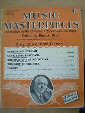 CAPOLAVORI DELLA MUSICA RIVISTA parte 1 OTT 15th 1925 Carmen-Sansone e Dalila
