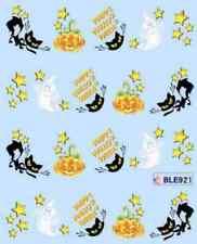 Nail art stickers décalcomanie: Halloween citrouilles chats étoiles fantômes