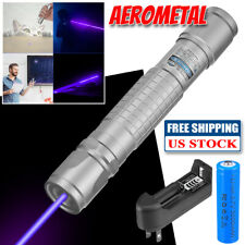 New Listinglaser Pointer Pen 900miles Blue Purple 405nm Lazer Beam Light With 18650 Charger