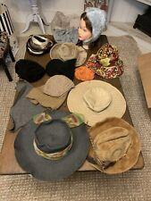 Lot Of 14. Vintage Woman's Designer Hats. Bonwit Teller Etc. Lot 8