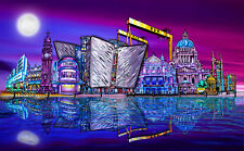 Belfast City Panoramic  - Art Print - Beautiful Colours - A3 - Signed & Numbered
